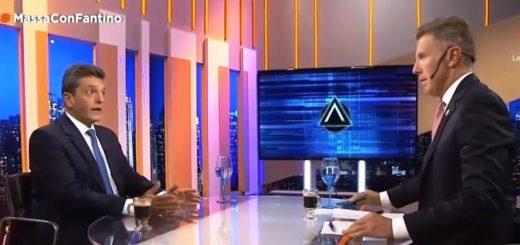 Massa ratificó anoche con Fantino sus intenciones de ser presidente y se volvió a alejar de Cristina Kirchner
