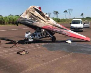 En pleno aterrizaje, se accidentó un avión ultraliviano en el Aeroclub de Oberá