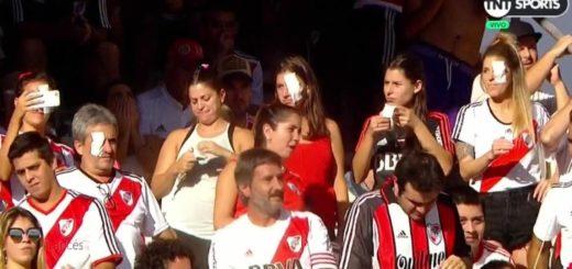 En el clásico contra Independiente, hinchas de River recibieron a Pablo Pérez con un parche en el ojo