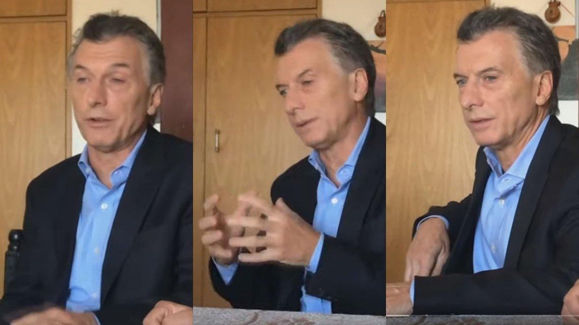 Macri utilizó un video casero para anunciar su paquete de medidas económicas