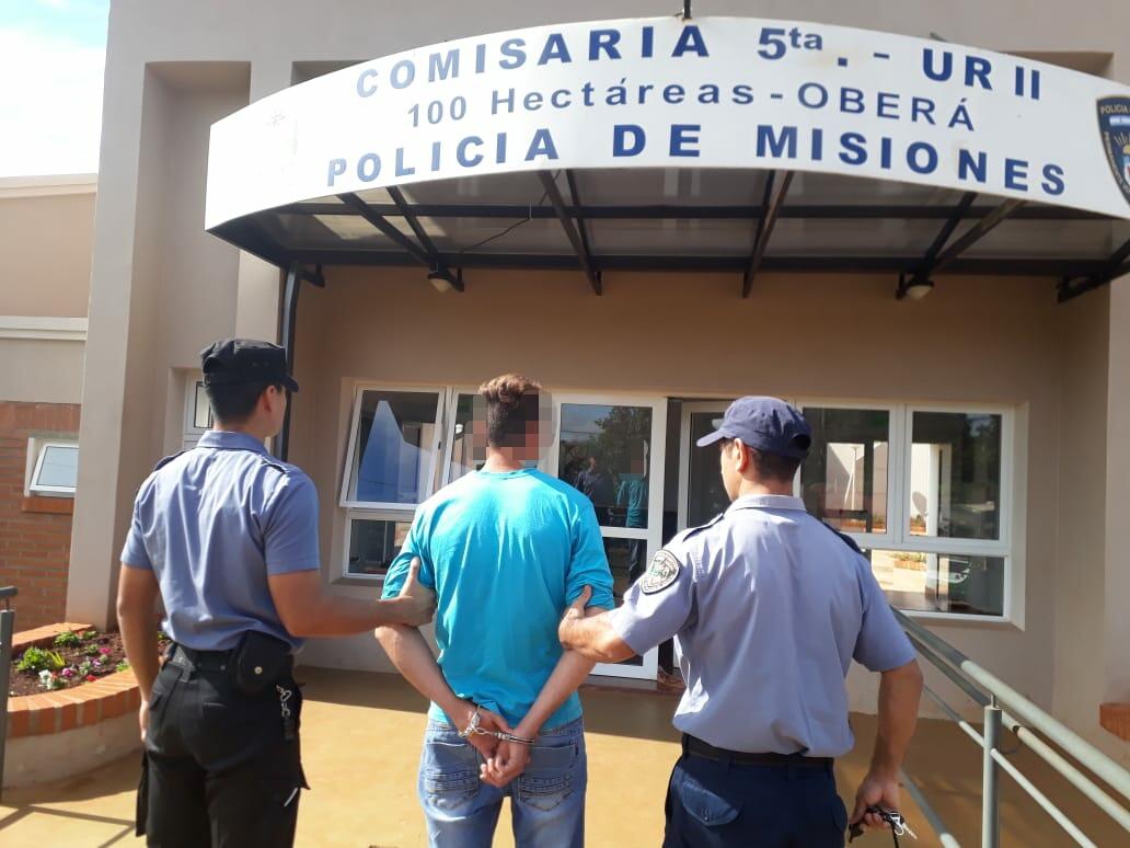 Oberá: joven acusado de agredir y amenazar a su concubina fue detenido