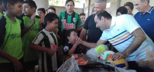 Oscar Herrera Ahuad visitó el Club El Brete