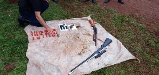 La Policía secuestró armas de guerra y detuvo a cinco hombres en 25 de Mayo