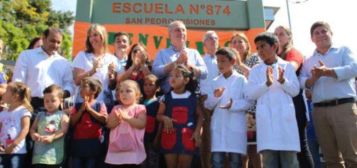 San Pedro: Passalacqua inauguró el edificio de la Escuela 874