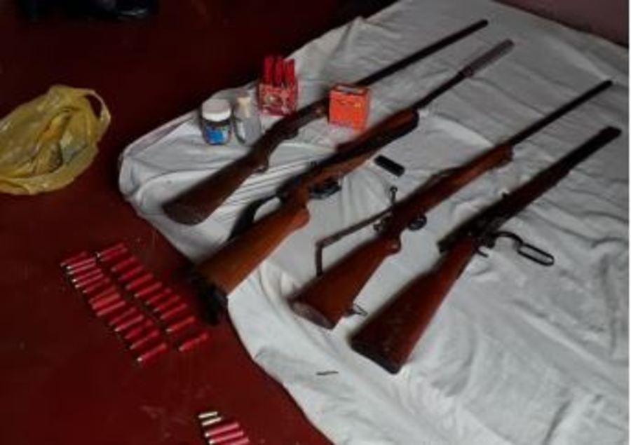 Secuestraron un arsenal y plantines de marihuana en Los Helechos: hay una detenida