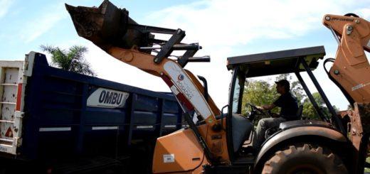 Posadas: la Municipalidad realizó unoperativo de limpieza en el barrio A 3-2