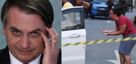 """Brasil: Bolsonaro defendió a los militares que acribillaron """"por error"""" a un músico con 80 tiros"""