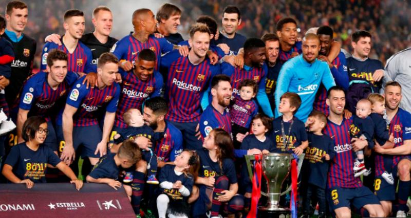 Barcelona le ganó al Levante con un golazo de Messi y se consagró campeón de la liga española