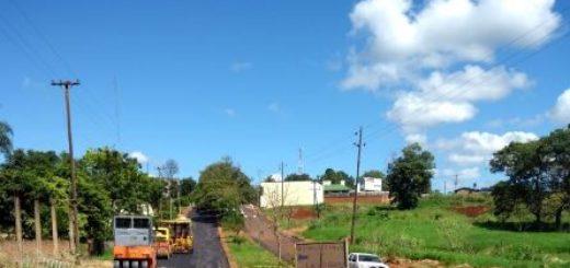 Vialidad Provincial realiza obras en San Vicente y en El Soberbio