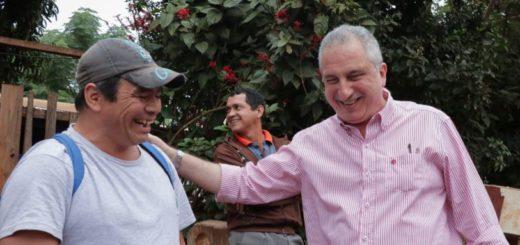 Passalacqua recorrió obras en el acceso a Pueblo Salto