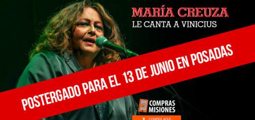 El show de María Creuza en Posadas reprogramado para junio…Ingresá aquí y adquirí las entradas por Internet