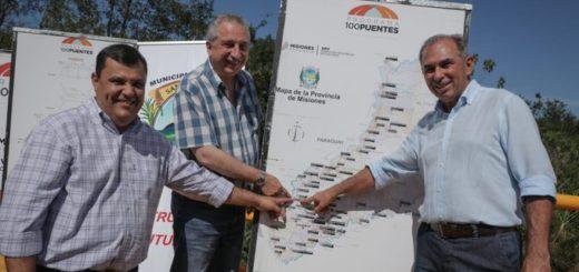 Passalacqua inauguró el puente sobre el arroyo Martín Chico en Santa Ana