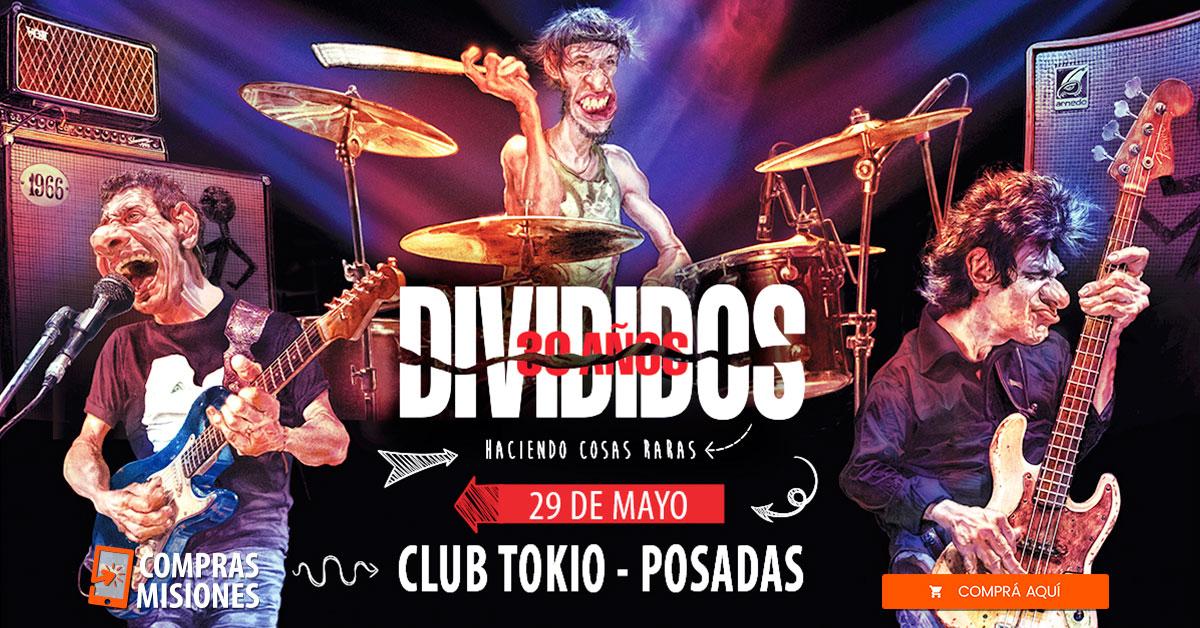 Divididos llega a Posadas: ya están en venta las entradas y las adquirís aquí por Internet
