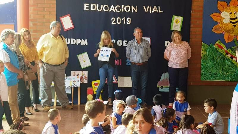 Convenio Educación Vial: comenzó taller de Educación Vial en el NENI 2057 de Posadas