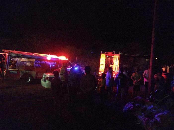 Un incendio consumió por completo una vivienda en Campo Ramón