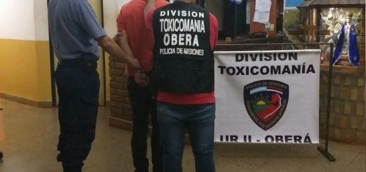Joven protagonizó un despiste y terminó detenido por tenencia de cocaína en Oberá