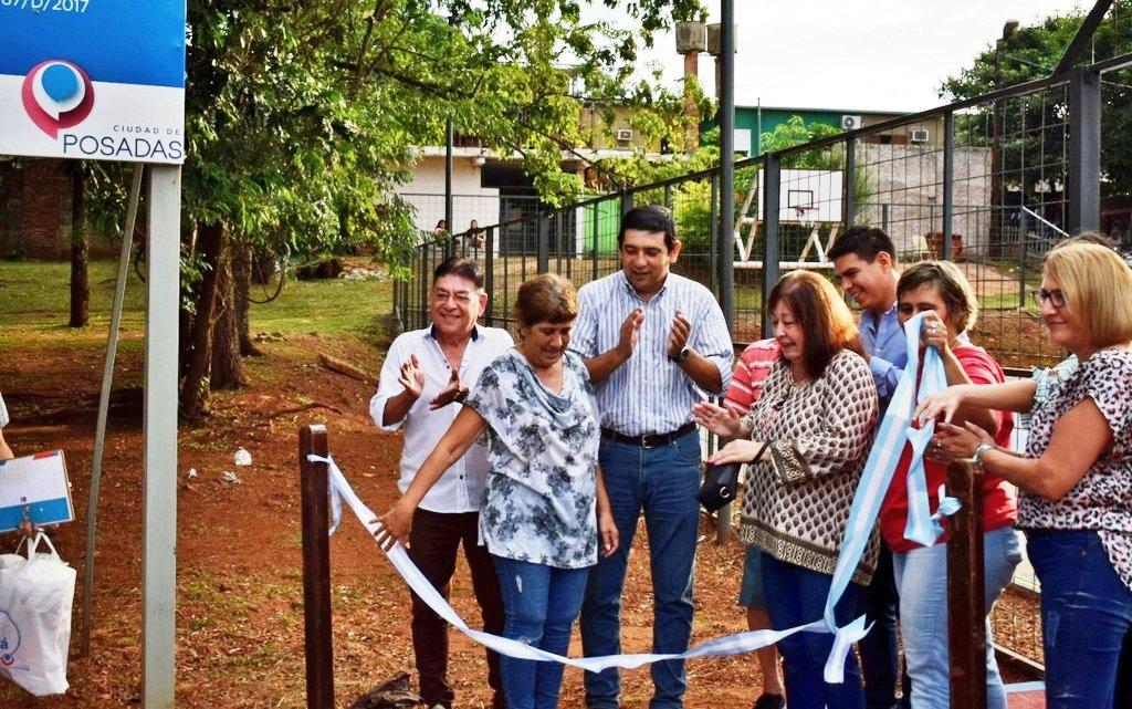 Presupuesto Participativo: Losada inauguró el playón deportivo de la chacra 137 de Posadas