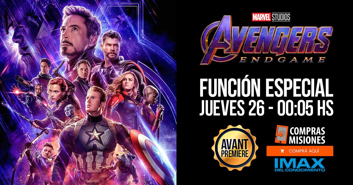 Avengers: Endgame en el IMAX: a sala repleta después de medianoche llega la esperada avant premier…