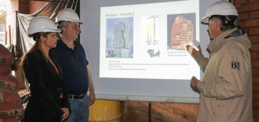 Passalacqua recorrió las obras del edificio del Tribunal de Cuentas