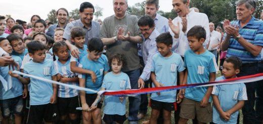 Passalacqua inauguró obras en la cancha de Racing, en la Capital del Monte
