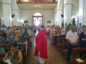 Semana Santa: se celebran las misas por el Domingo de Ramos en la Catedral de Posadas