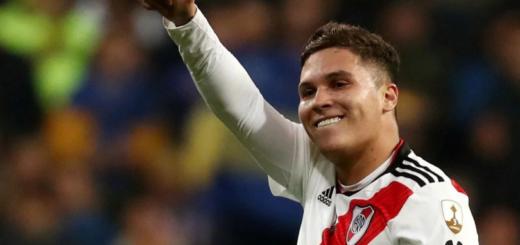 Juanfer Quintero se presentó en el entrenamiento de River y Marcelo Gallardo sonríe por su regreso