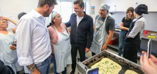 Sergio Massa visitó hoy junto a Marcelo Tinelli la Escuela de Oficios de San Fernando