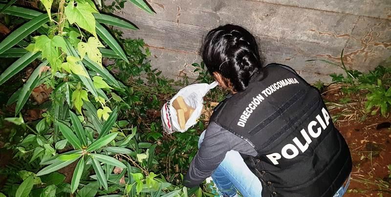 La Policía secuestró más de 6 kilos de marihuana en una zona de malezas en el barrio San Jorge de Posadas