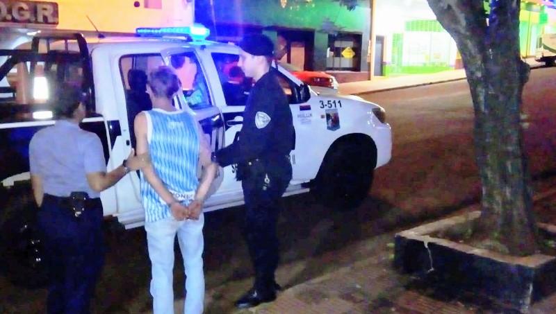 Oberá: la Policía detuvo a un hombre por causar disturbios en la vía pública