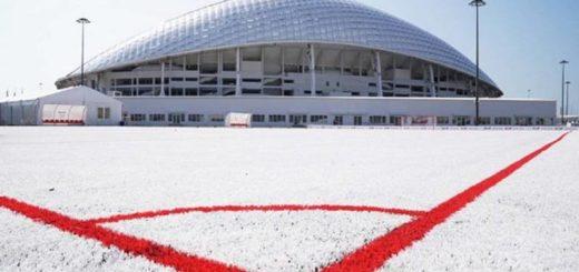 Impresionante: la cancha construida con vasos reciclados del Mundial de Rusia