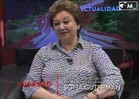 Sofía Guterman no cree en la justicia por la causa AMIA y apuesta «a la memoria»