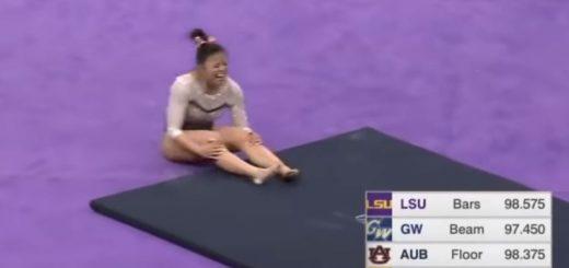 Impactante video: una joven gimnasta se quebró las dos piernas en plena competencia