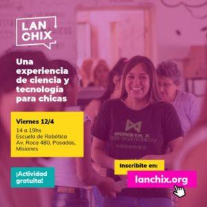 LAN Chix propone a las jóvenes pensar el mundo de la ciencia y tecnología en la Escuela de Robótica