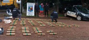 San Vicente: la Policía de Misiones incautó más de 100 kilos de marihuana