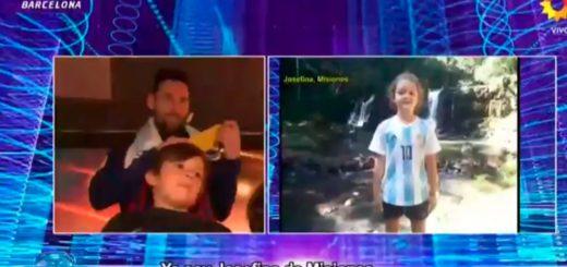 En el regreso de Tinelli, niños misioneros le dejaron un mensaje a uno de los hijos de Messi