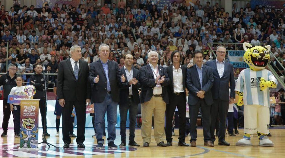 """Mundial de Futsal 2019: Passalacqua atribuyó """"al esfuerzo de todos los misioneros"""" la realización de este evento único"""