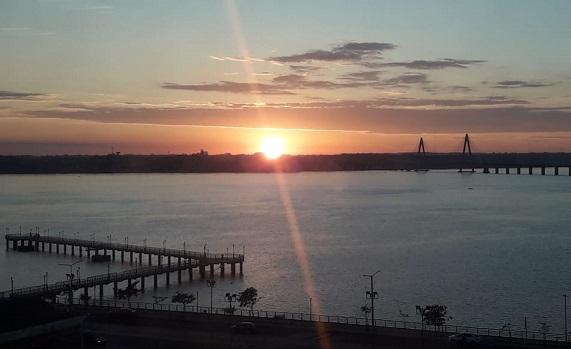 Mirá el hermoso amanecer con sol que se disfruta en Posadas este miércoles 24 de abril