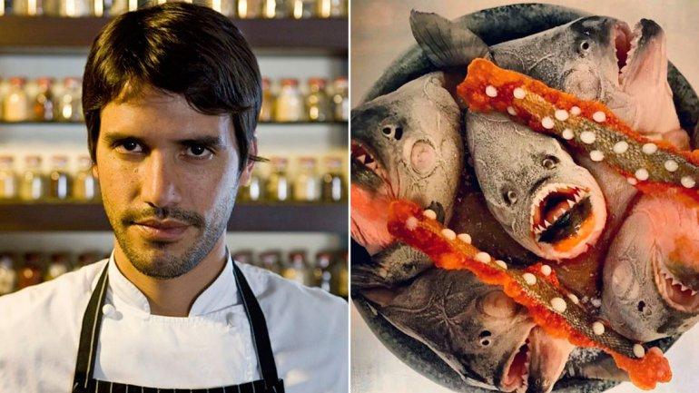Detuvieron a un famoso chef porque llevaba 40 pirañas en su equipaje