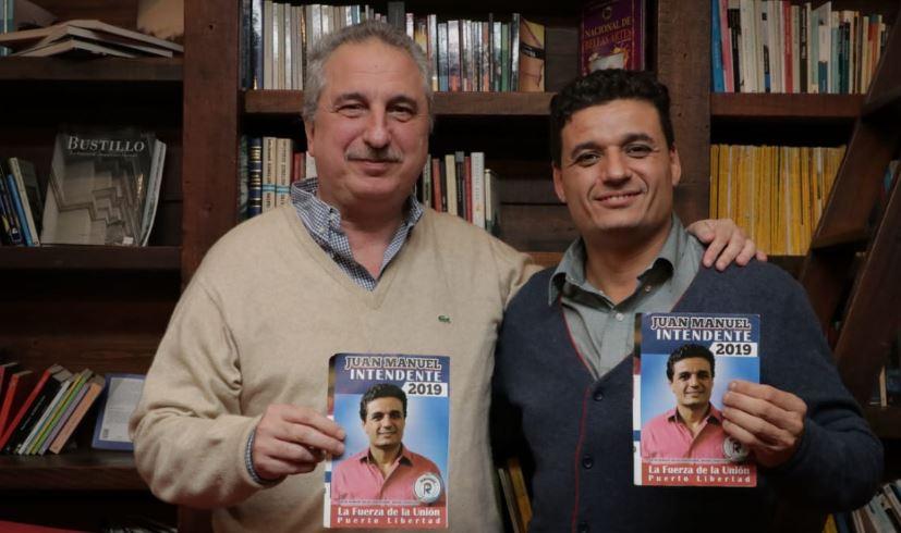 """Passalacqua se reunió con el candidato a intendente por el sublema """"La Fuerza de la Unión"""" en Puerto Libertad"""