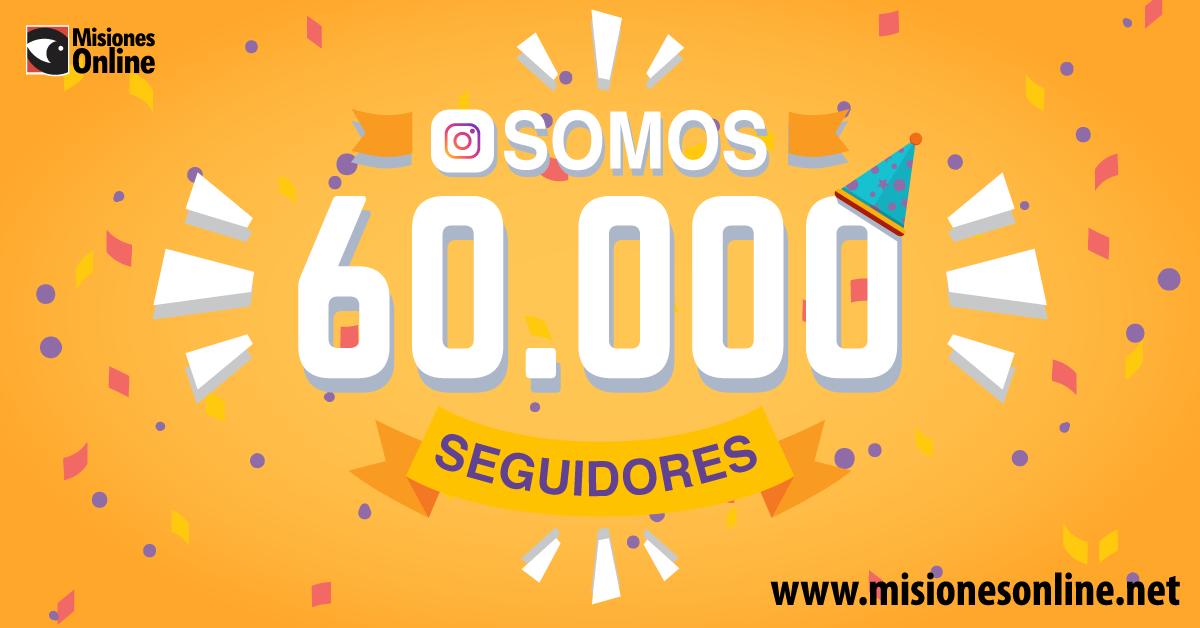 Misiones Online llegó a los 60 mil seguidores en Instagram