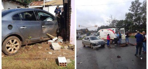 Tres vehículos involucrados en un choque en Posadas: en uno de ellos se encontró un arma de fuego