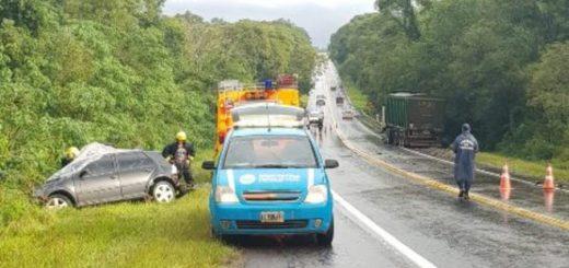 Iguazú: falleció una mujer brasileña tras protagonizar un accidente sobre ruta 12