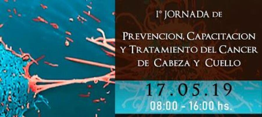 Realizarán la 1º Jornada de Prevención, Capacitación y Tratamiento del Cáncer de Cabeza y Cuello