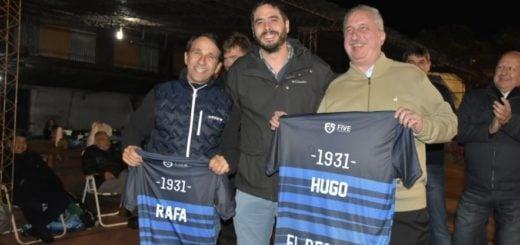 Passalacqua compartió el cierre de la jornada por el Día de la Patria en el Club Atlético Oberá