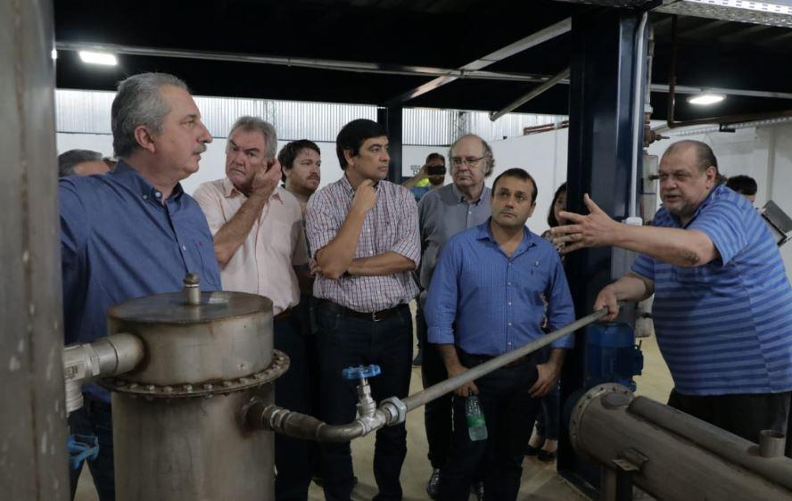 Passalacqua y Herrera Ahuad recorrieron la planta de producción de cristales de Stevia para edulcorantes, en el Parque Industrial Posadas
