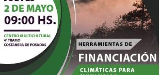 "Posadas: realizarán conferencia sobre ""Herramientas de financiación climáticas para municipios"""