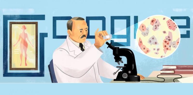 Google homenajea con un doodle al creador del famoso examen médico: Georgios Papanikolaou
