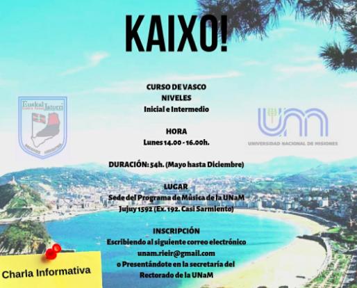Mediante un convenio entre la UNaM y el Centro «Euskal Jatorri» se dictan clases de idioma vasco en Posadas