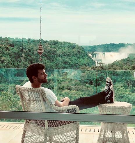 El actor español Diego Domínguez, protagonista de una de las novelas del momento, conoció las Cataratas del Iguazú y disfrutó en el Hotel Meliá