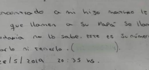 """Abandonaron a un bebé en Buenos Aires, con una nota: """"Me llamo Mateo, mi mamá no puede cuidarme"""""""